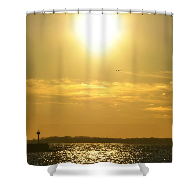 Buffalo Shower Curtain featuring the photograph 08 Sunset 16mar16 by Michael Frank Jr
