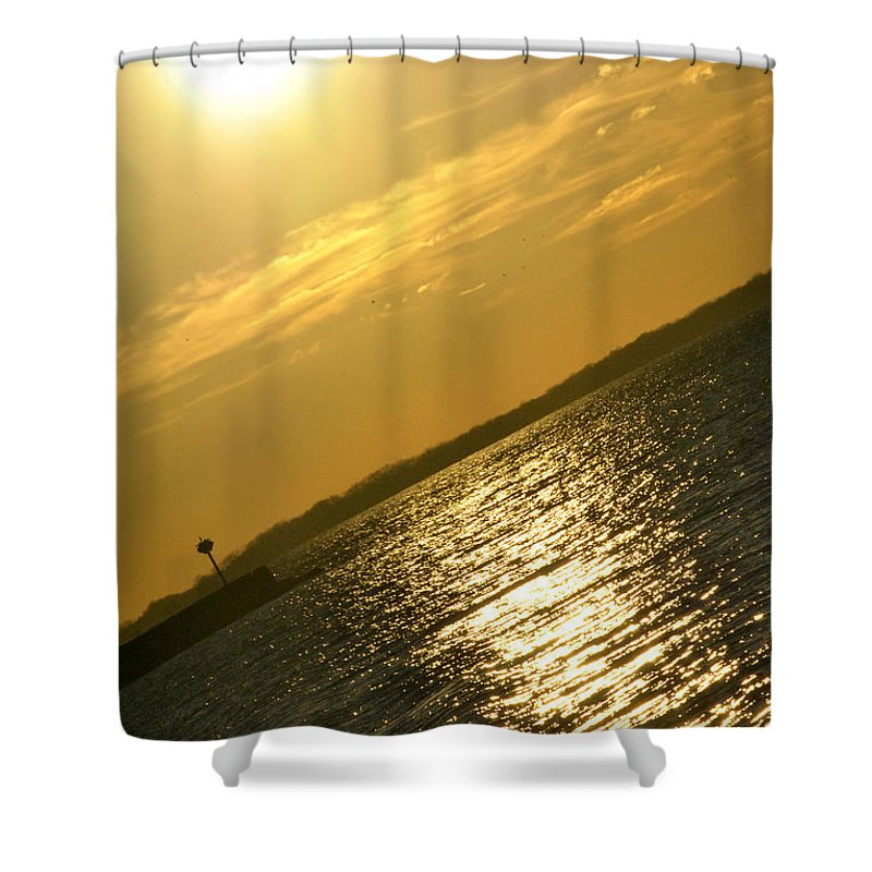 Buffalo Shower Curtain featuring the photograph 09 Sunset 16mar16 by Michael Frank Jr