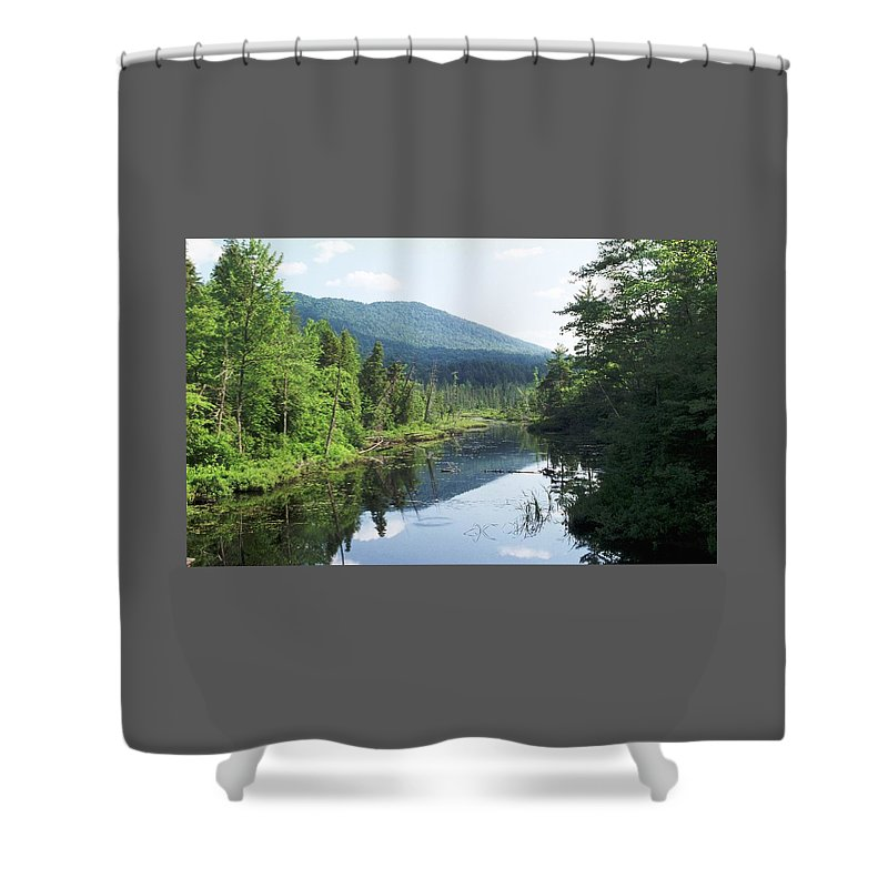Mountain Shower Curtain featuring the photograph 070506-84 by Mike Davis