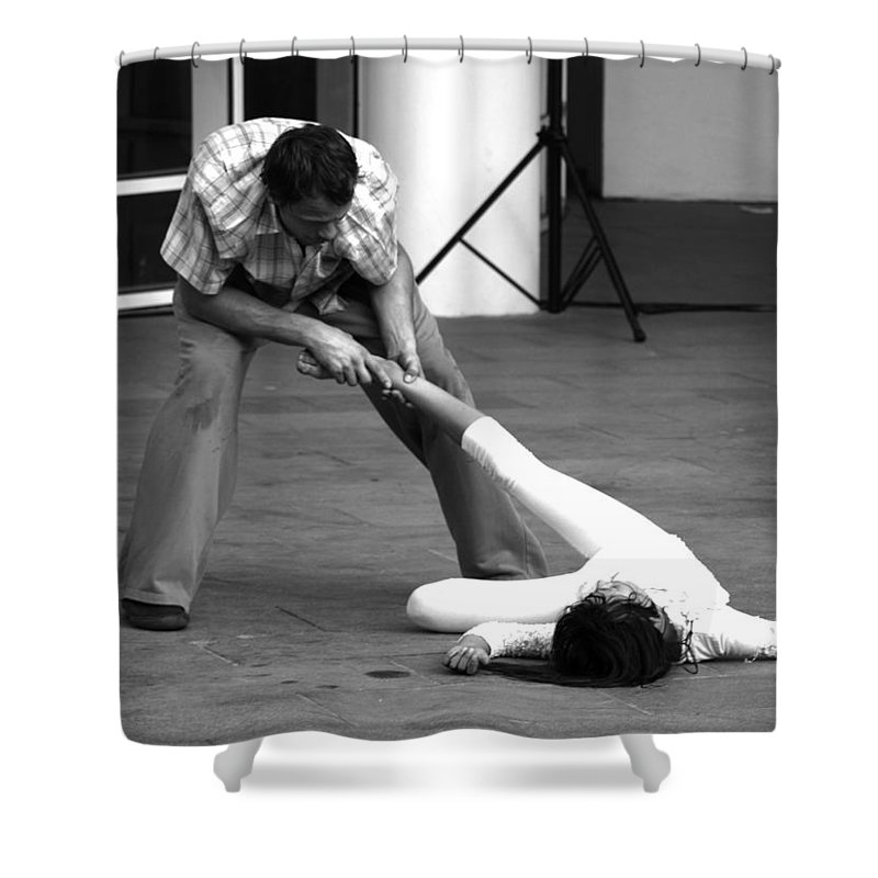 Dance Shower Curtain featuring the photograph 18 by Roger Muntes