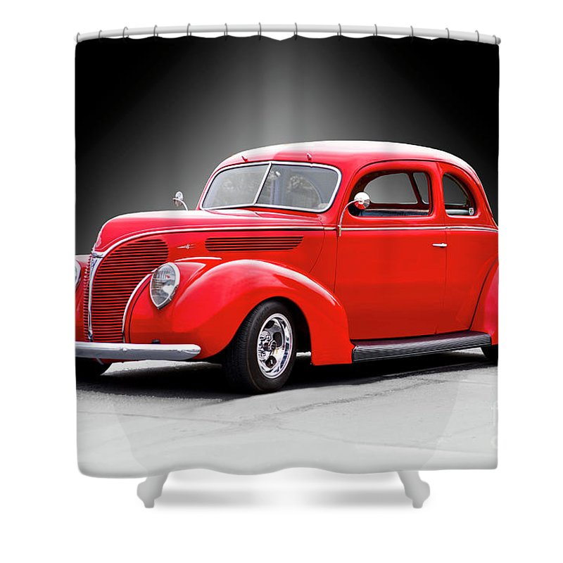 Auto Shower Curtain featuring the photograph 1938 Ford Five-window Coupe II by Dave Koontz
