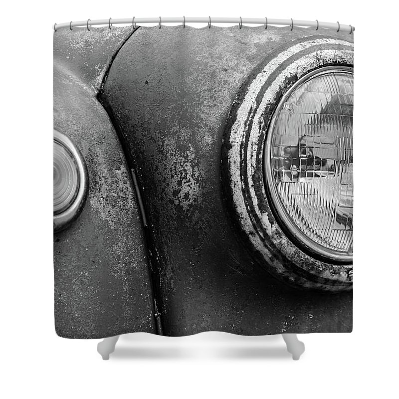 Gaetano Chieffo Shower Curtain featuring the photograph 1946 Ford F-6 by Gaetano Chieffo