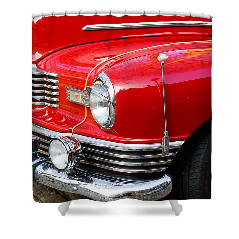 Nash Shower Curtain featuring the photograph 1947 Nash by Colin Rayner