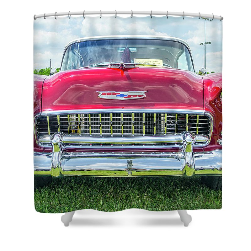 Gaetano Chieffo Shower Curtain featuring the photograph 1955 Chevy Bel Air by Gaetano Chieffo