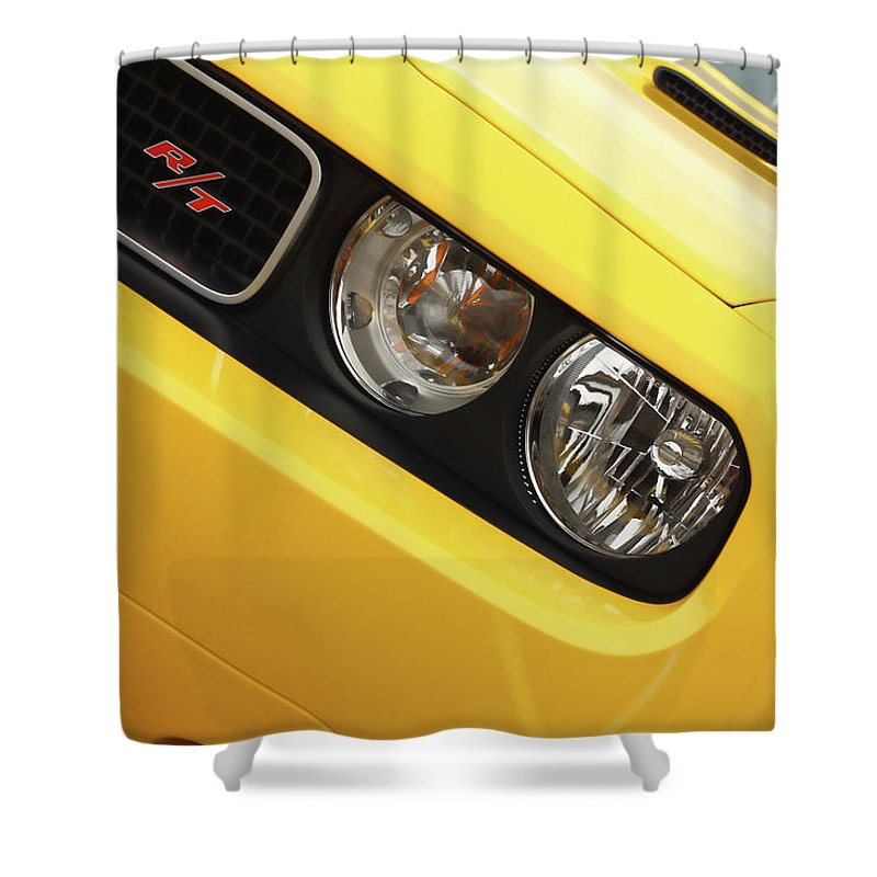 2011 Shower Curtain featuring the photograph 2011 Dodge Challenger Rt by Gordon Dean II