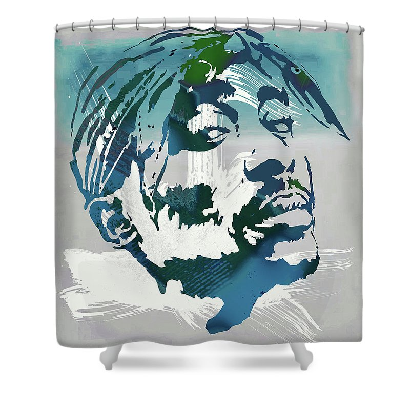 2pac Tupac Shakur Pop Art Poster Shower Curtain For Sale By Kim Wang