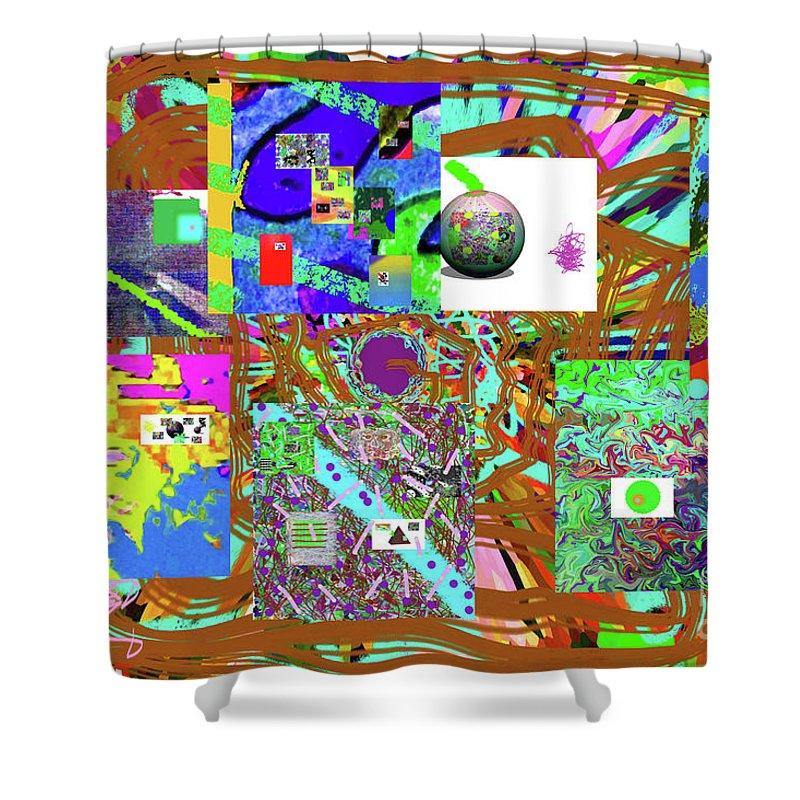 Walter Paul Bebirian Shower Curtain featuring the digital art 1-3-2016babcdefghijklmno by Walter Paul Bebirian