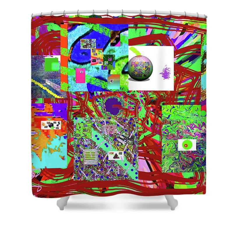 Walter Paul Bebirian Shower Curtain featuring the digital art 1-3-2016babcdefghijklmnopqr by Walter Paul Bebirian