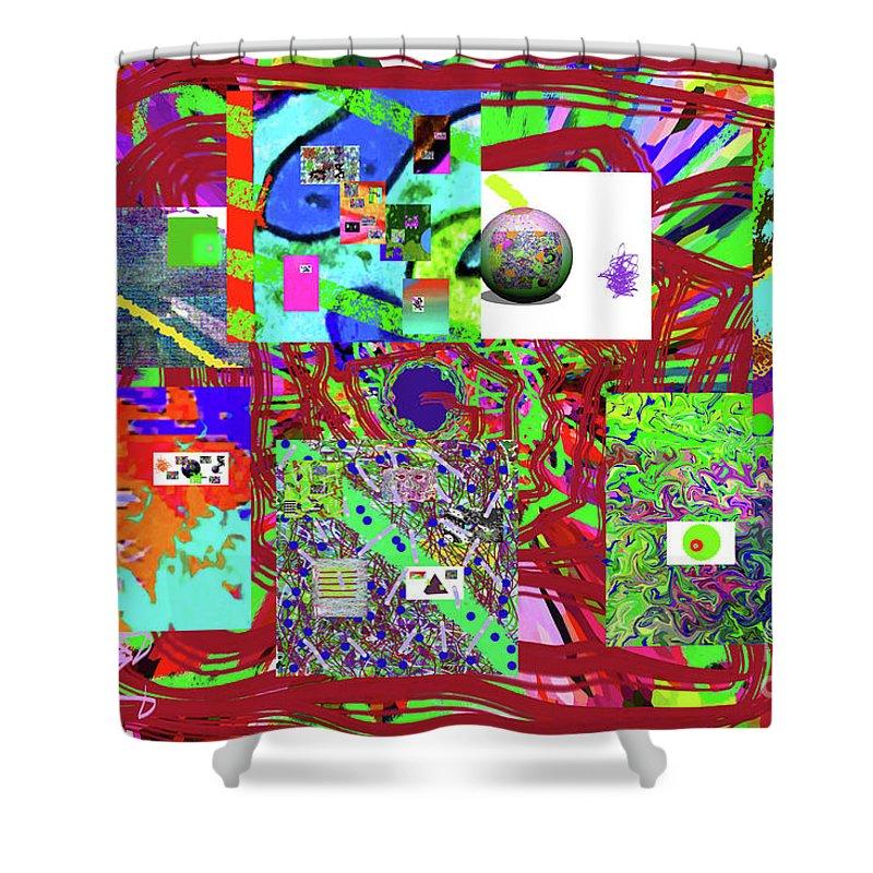 Walter Paul Bebirian Shower Curtain featuring the digital art 1-3-2016babcdefghijklmnopqrt by Walter Paul Bebirian