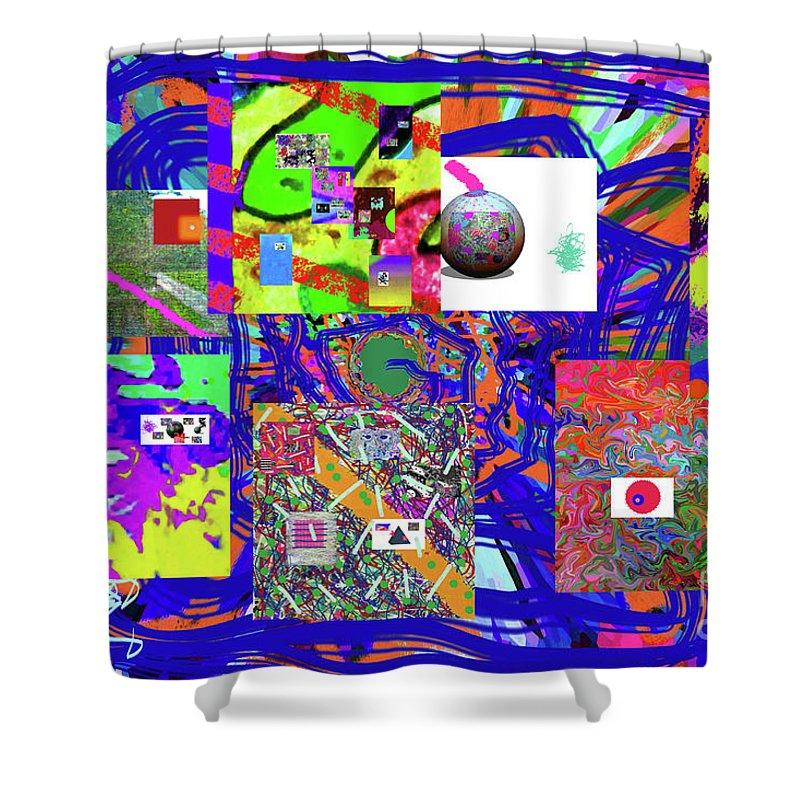 Walter Paul Bebirian Shower Curtain featuring the digital art 1-3-2016babcdefghijklmnopqrtuvwxyzabcde by Walter Paul Bebirian