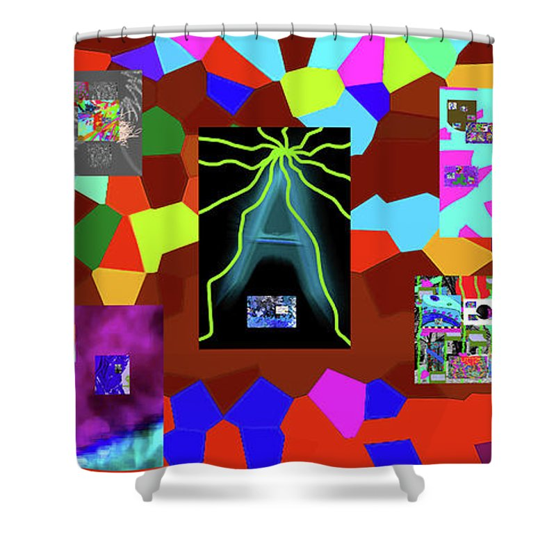 Walter Paul Bebirian Shower Curtain featuring the digital art 1-3-2016dabcdefgh by Walter Paul Bebirian