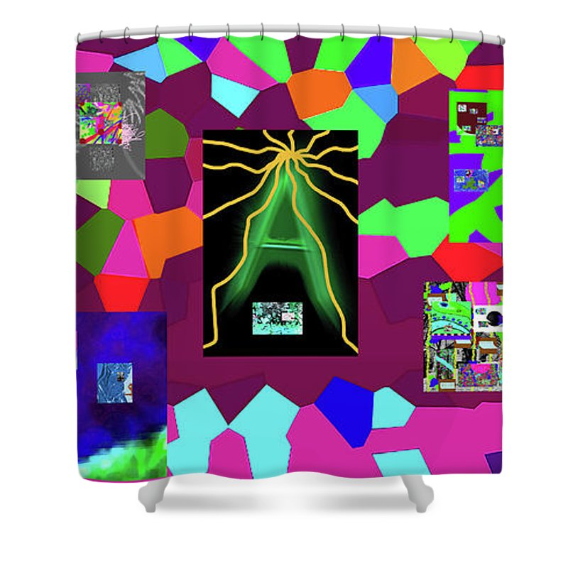 Walter Paul Bebirian Shower Curtain featuring the digital art 1-3-2016dabcdefghijklm by Walter Paul Bebirian