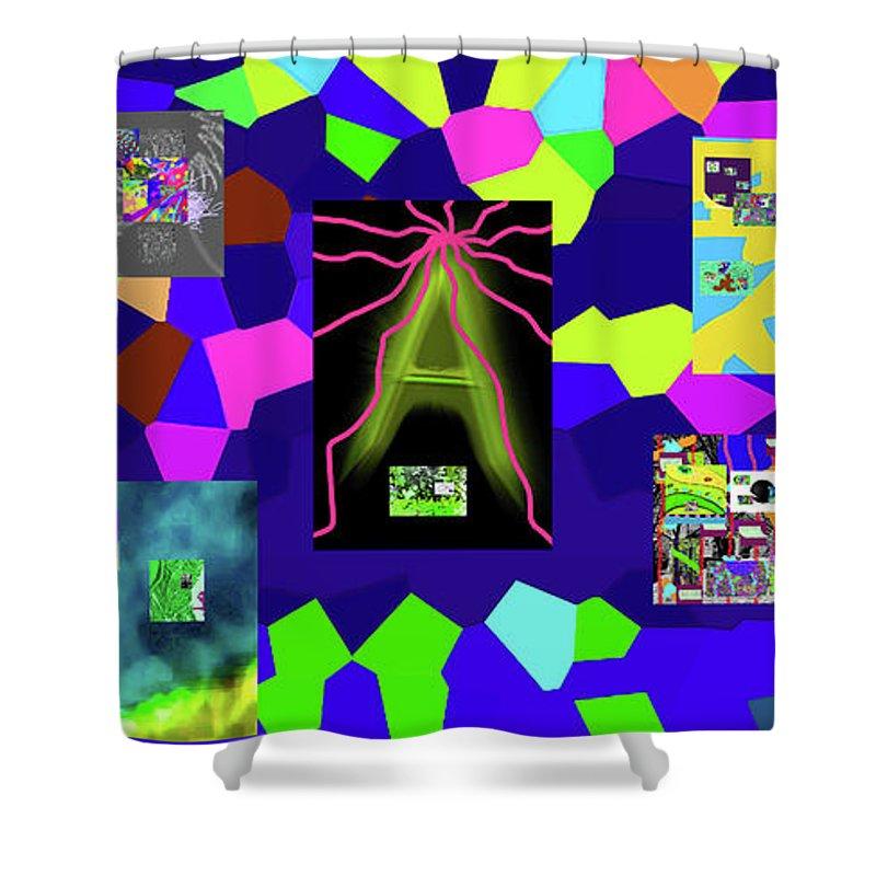 Walter Paul Bebirian Shower Curtain featuring the digital art 1-3-2016dabcdefghijklmnopqrtu by Walter Paul Bebirian