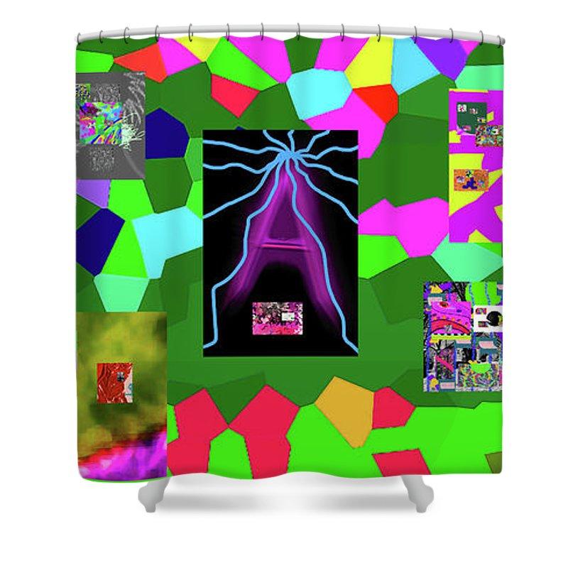 Walter Paul Bebirian Shower Curtain featuring the digital art 1-3-2016dabcdefghijklmnopqrtuvwxyzabcdefgh by Walter Paul Bebirian