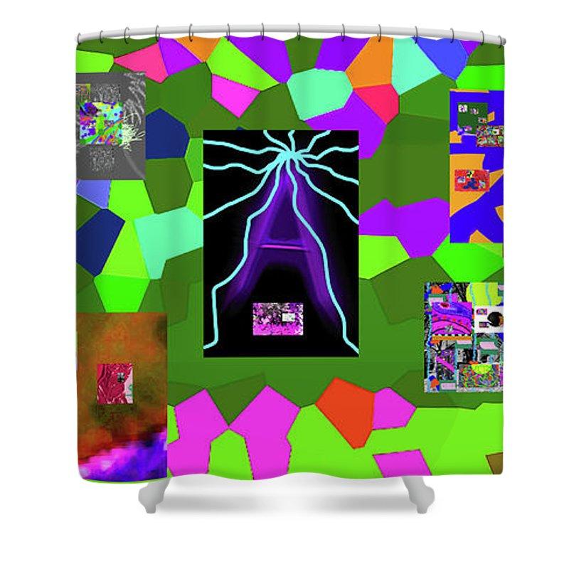 Walter Paul Bebirian Shower Curtain featuring the digital art 1-3-2016dabcdefghijklmnopqrtuvwxyzabcdefghijk by Walter Paul Bebirian