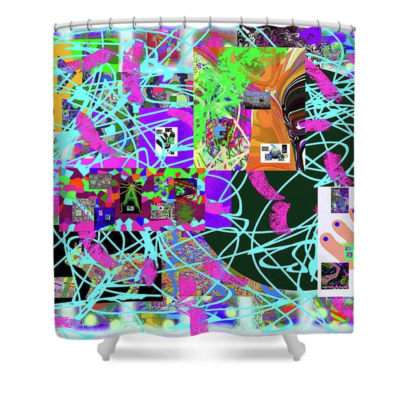 Walter Paul Bebirian Shower Curtain featuring the digital art 1-3-2016ea by Walter Paul Bebirian