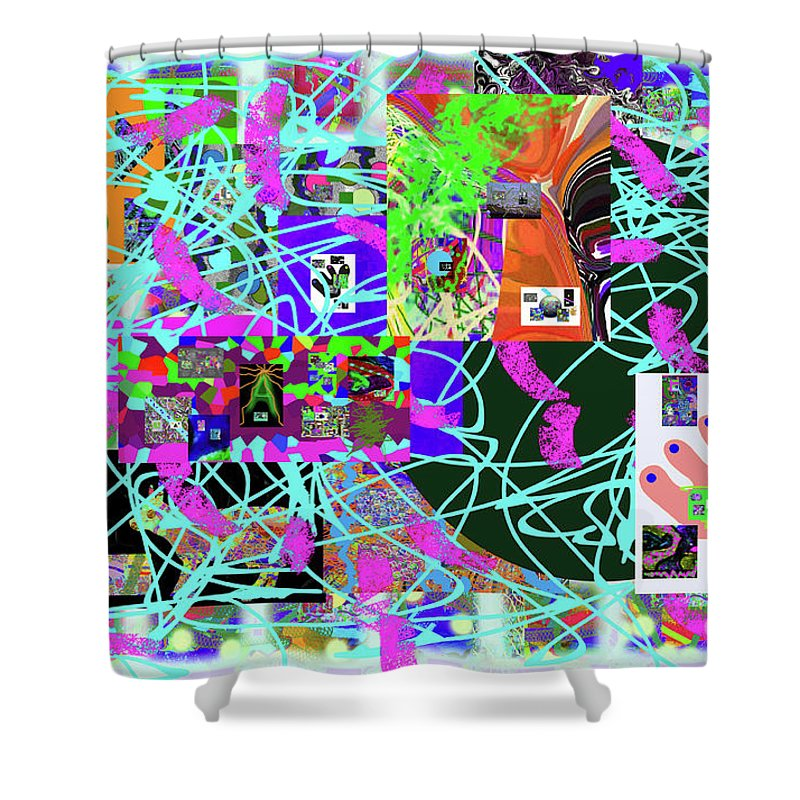 Walter Paul Bebirian Shower Curtain featuring the digital art 1-3-2016eab by Walter Paul Bebirian