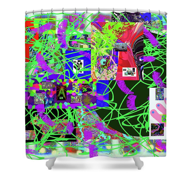 Walter Paul Bebirian Shower Curtain featuring the digital art 1-3-2016eabcde by Walter Paul Bebirian
