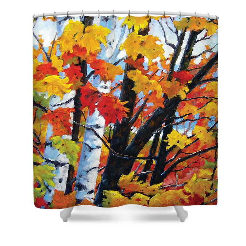 Art Shower Curtain featuring the painting A Touch Of Canada by Richard T Pranke