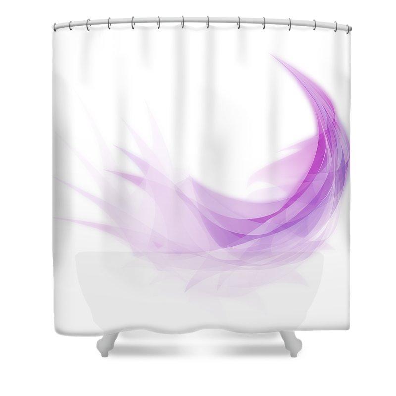 Abstract Feather Shower Curtain For Sale By Setsiri Silapasuwanchai