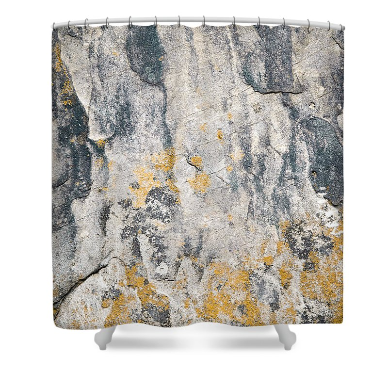 Material Shower Curtain featuring the photograph Abstract Texture Old Plaster by Jozef Jankola