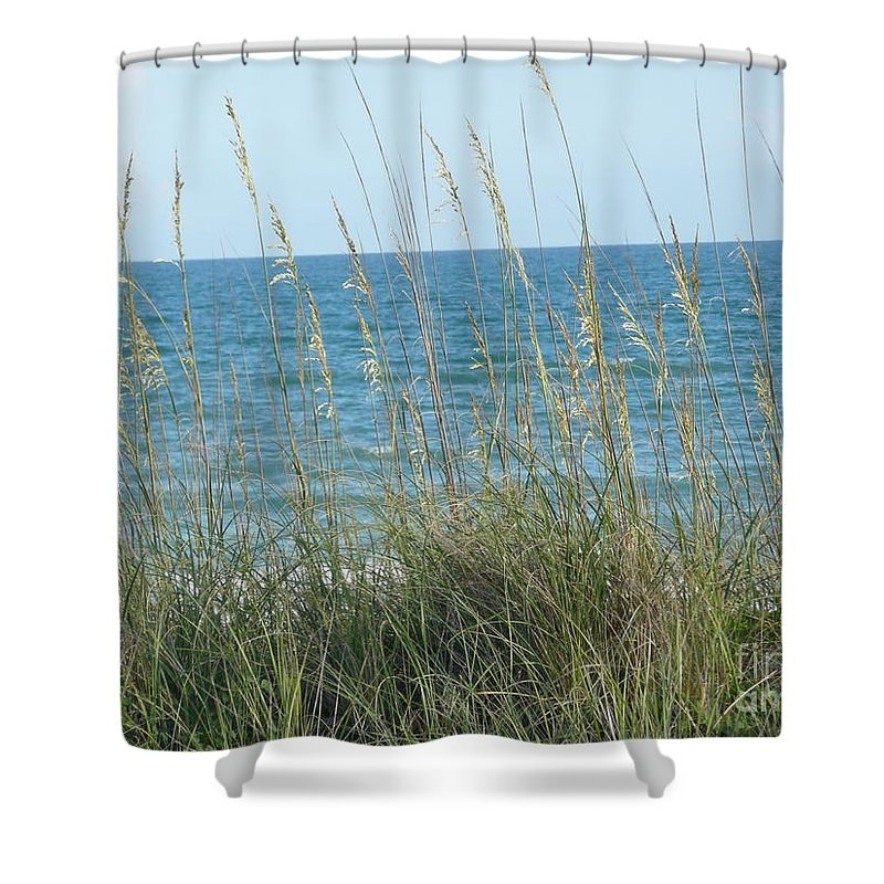 Beach Shower Curtain featuring the photograph Afternoon At The Beach by Barb Montanye Meseroll