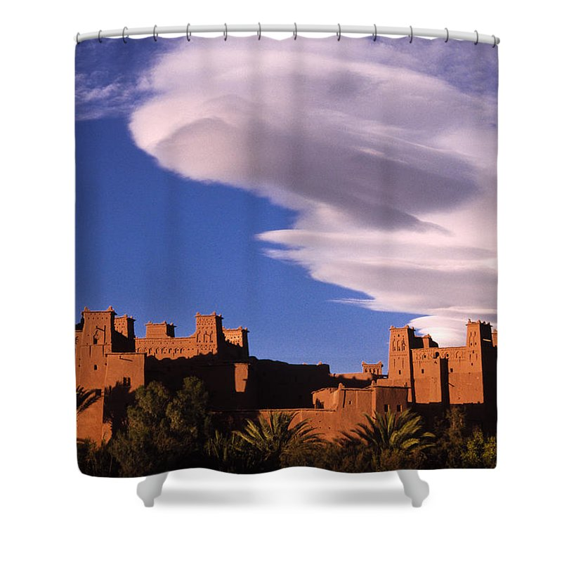 North Africa Shower Curtain featuring the photograph Ait Benhaddou Casbah by Michele Burgess