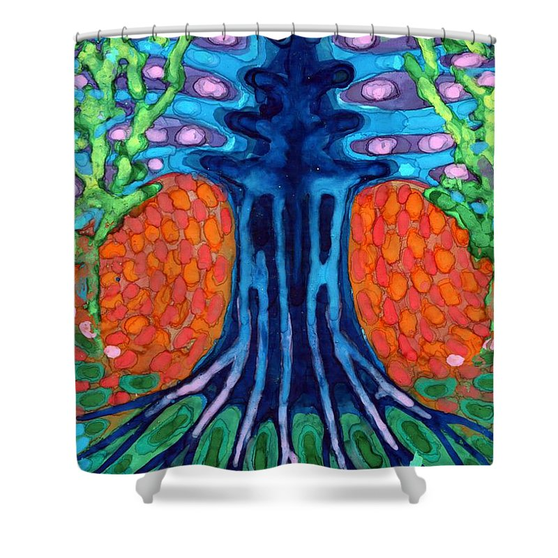 Colour Shower Curtain featuring the painting Always Young by Wojtek Kowalski