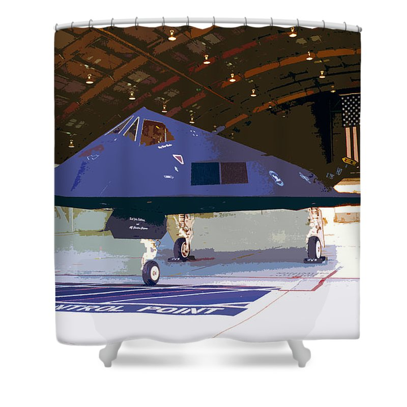 American Shower Curtain featuring the painting American Pride by David Lee Thompson