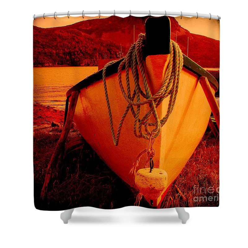 Antique Bow And Rope Shower Curtain featuring the digital art Antique Bow And Rope by Barbara Griffin
