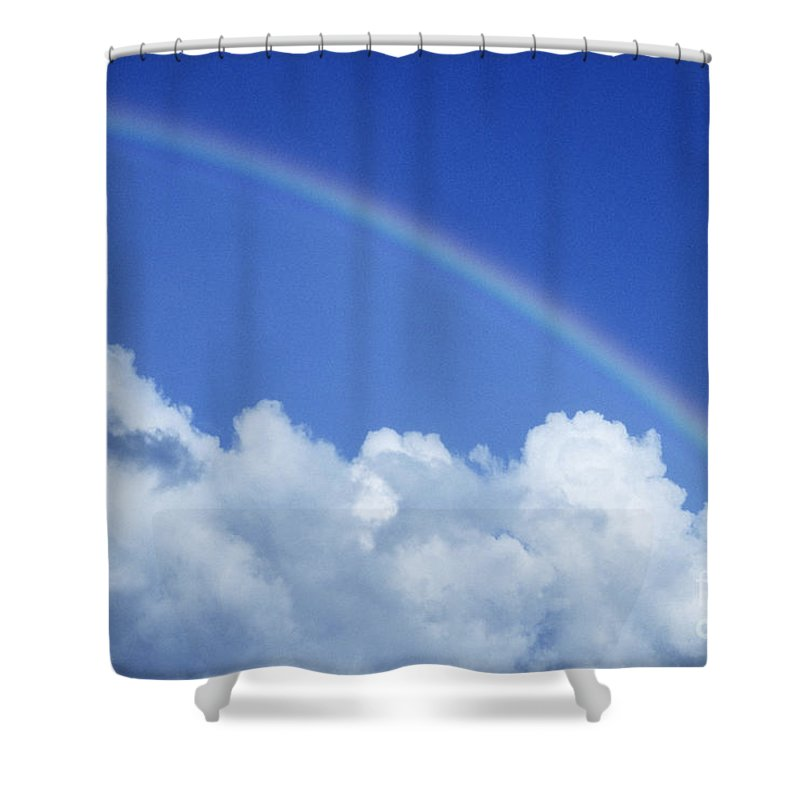 Above Shower Curtain featuring the photograph Arching Rainbow by Carl Shaneff - Printscapes