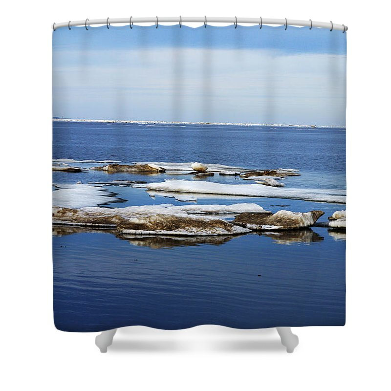Ice Shower Curtain featuring the photograph Arctic Ice by Anthony Jones