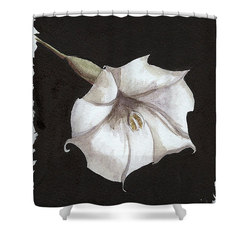 Moonflower Shower Curtain featuring the painting Arlene by Arlene Wright-Correll