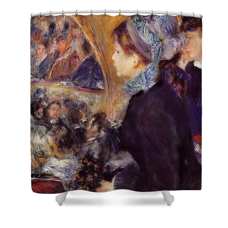 Child Shower Curtain featuring the painting At The Theatre by Pierre-Auguste Renoir