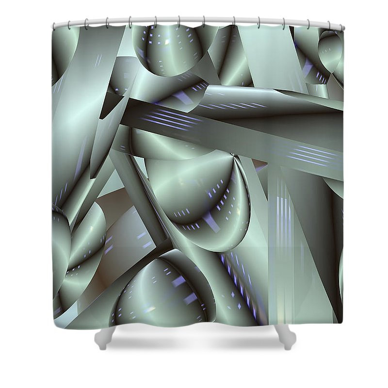 Japan-a-mation Shower Curtain featuring the painting Awe Kew Nice by Scott Piers