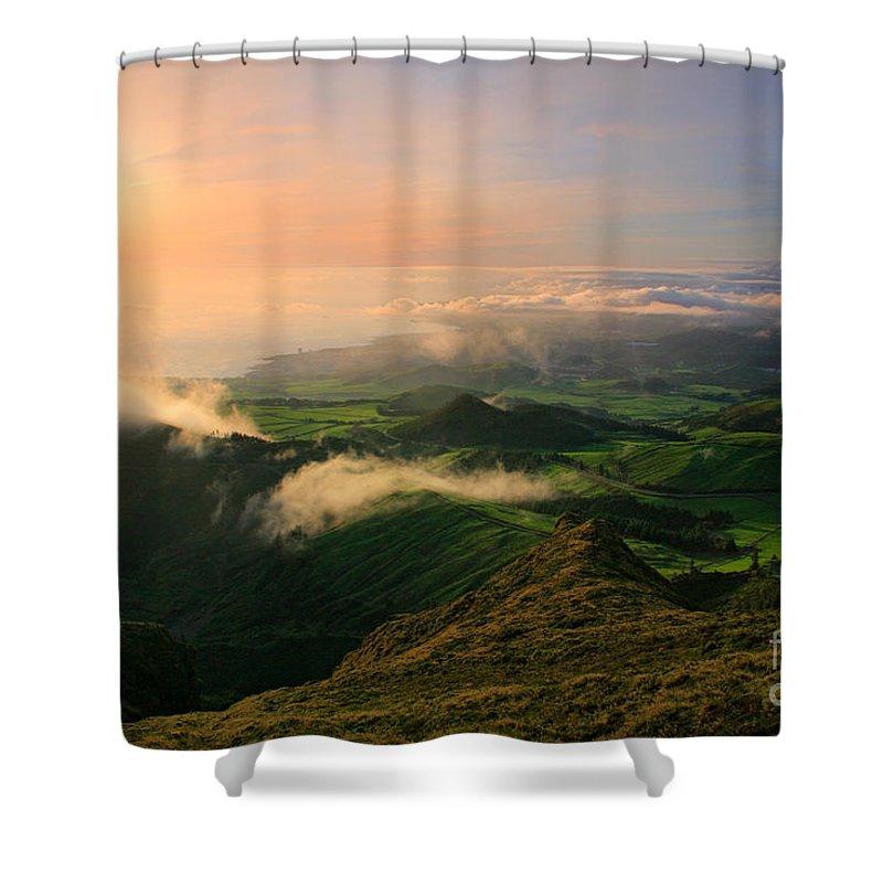 Coast Shower Curtain featuring the photograph Azores Islands Landscape by Gaspar Avila
