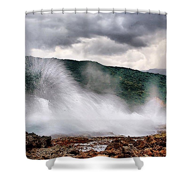 Sunrise Shower Curtain featuring the photograph Bahia De Ganango by Galeria Trompiz