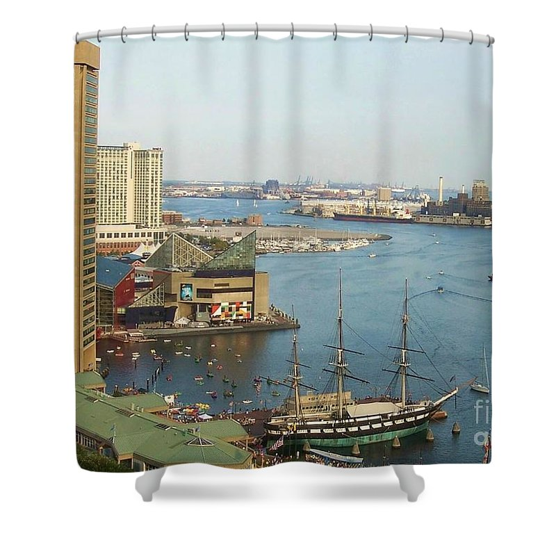 Baltimore Shower Curtain featuring the photograph Baltimore by Debbi Granruth