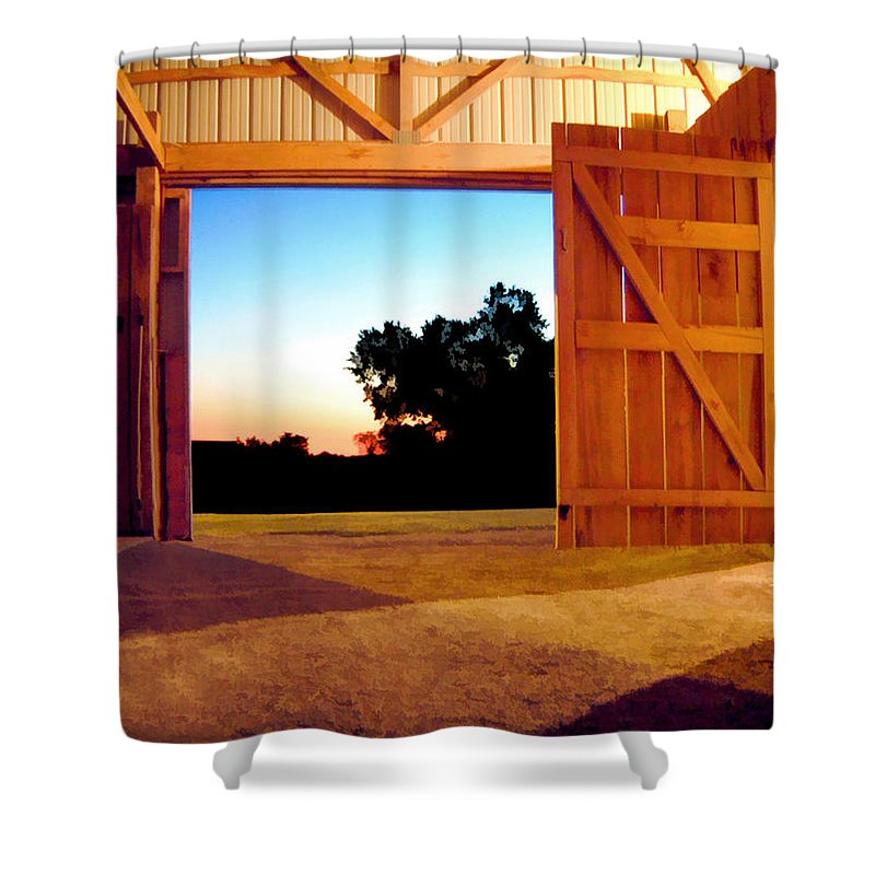 Farmlife Shower Curtain featuring the photograph The Courseway by Sam Davis Johnson