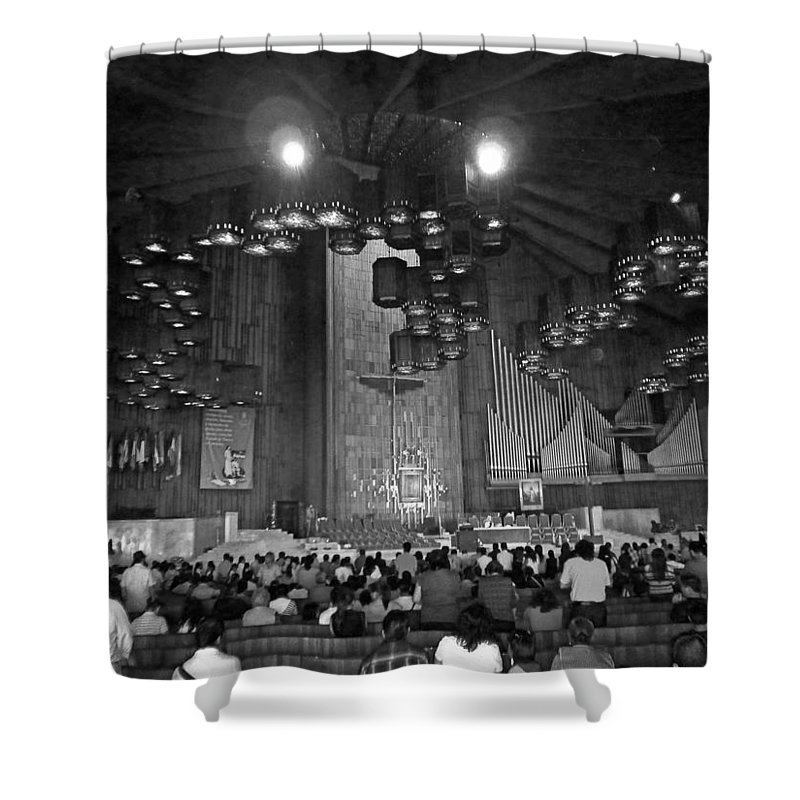 Basilica De Guadalupe Shower Curtain featuring the photograph Basilica De Guadalupe 5 by Totto Ponce