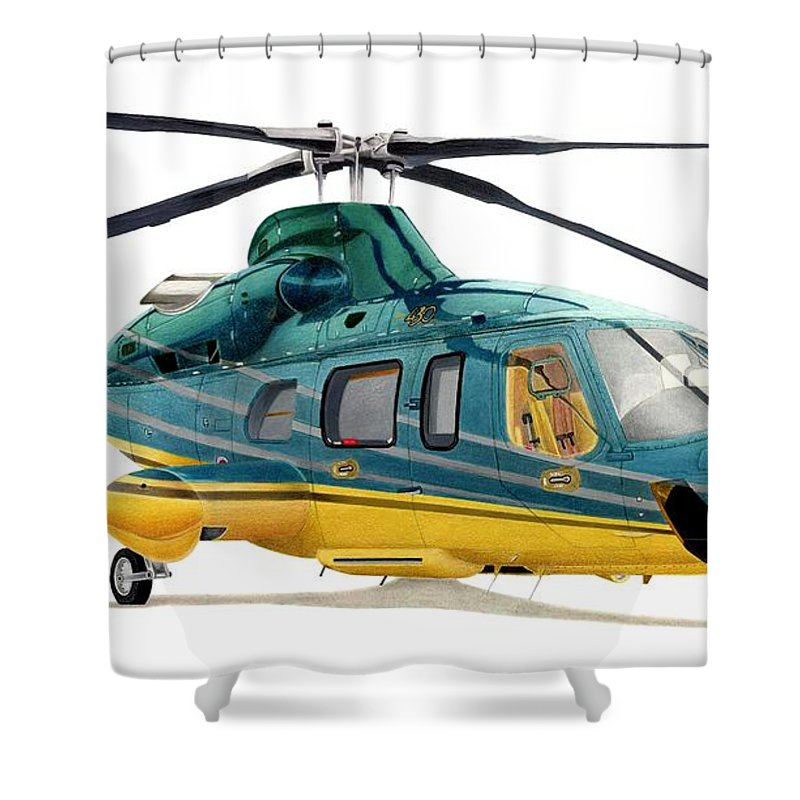 Helicopter Shower Curtains