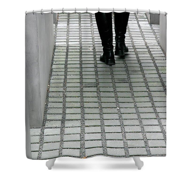 Berlin Shower Curtain featuring the photograph Berlin Memorial by KG Thienemann