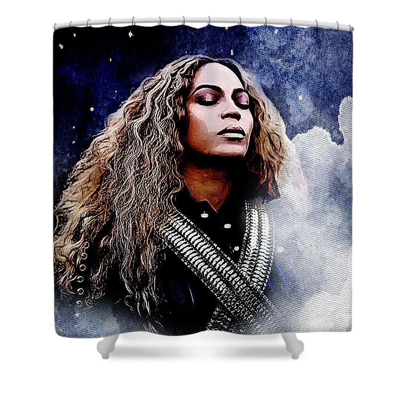 Beyonce Shower Curtain Featuring The Digital Art By DigArtisT