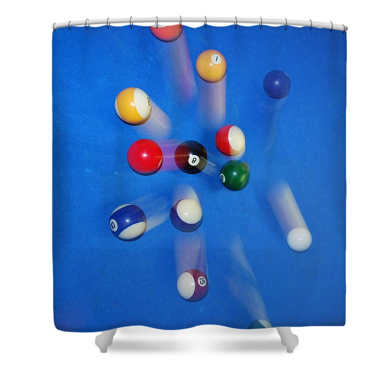 Flowers Shower Curtain featuring the photograph Big Blue by Donna Shahan