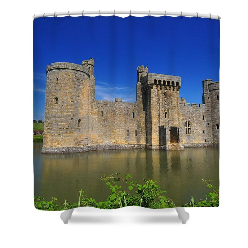 Bodium Castle Shower Curtain featuring the photograph Bodium Castle Sussex by Chris Pickett