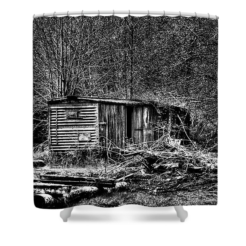 Camp 18 Shower Curtain featuring the photograph Box Car by David Patterson