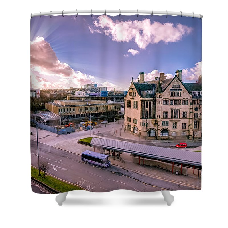 Bradford City Hall Shower Curtain featuring the photograph Bradford City Hall by Mike Walker
