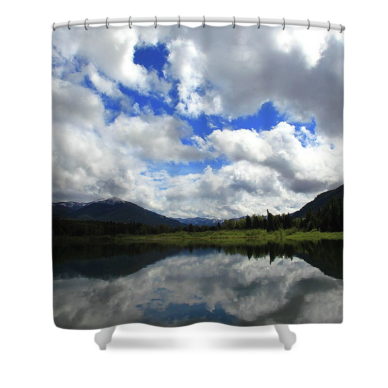 Bull Lake Shower Curtain featuring the photograph Bull Lake Reflection by Tracy Chappell