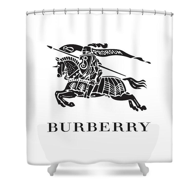 Burberry Shower Curtain Featuring The Digital Art