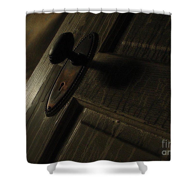 Ghostly Shower Curtain featuring the photograph Burned Knob 02 by Peter Piatt